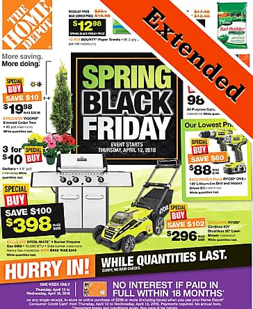 Home Depot Home Depot - Spring Black Friday - Extended to April 22nd